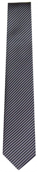 OLYMP Seidenkrawatte - Slim - schwarz / grau - fein gestreift - 6699 00 67
