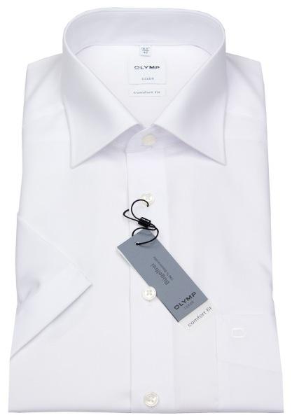 OLYMP Kurzarmhemd - Luxor Comfort Fit - New Kent - weiß - 0254 12 00