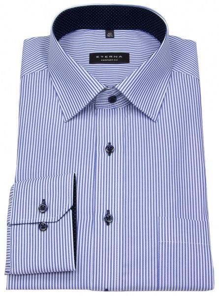 Eterna Hemd - Comfort Fit - Streifen - blau / weiß - 8992 E15P 16