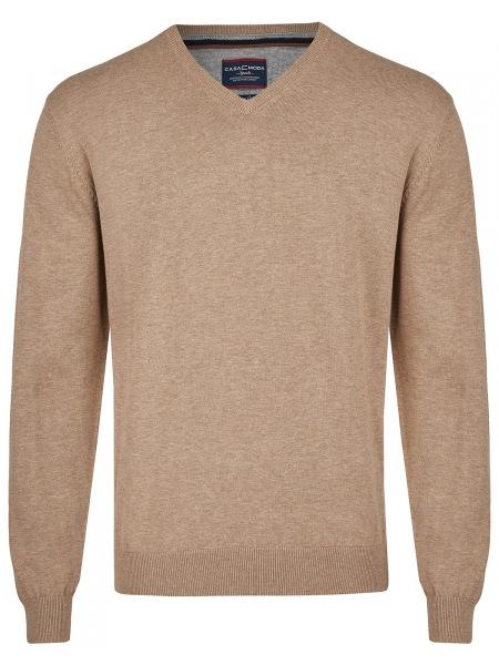 Casa Moda Pullover - V-Ausschnitt - beige - 004130 616