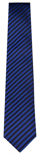 OLYMP Seidenkrawatte - blau / schwarz gestreift - 4699 00 08