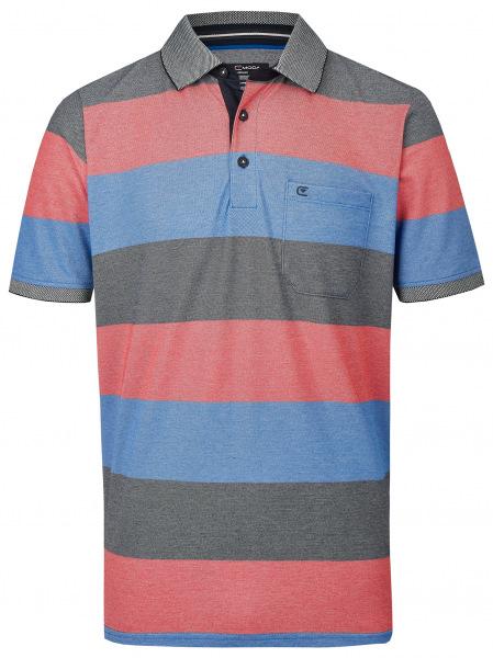 Casa Moda Poloshirt - Casual Fit - Streifen - rot - 903339000 428