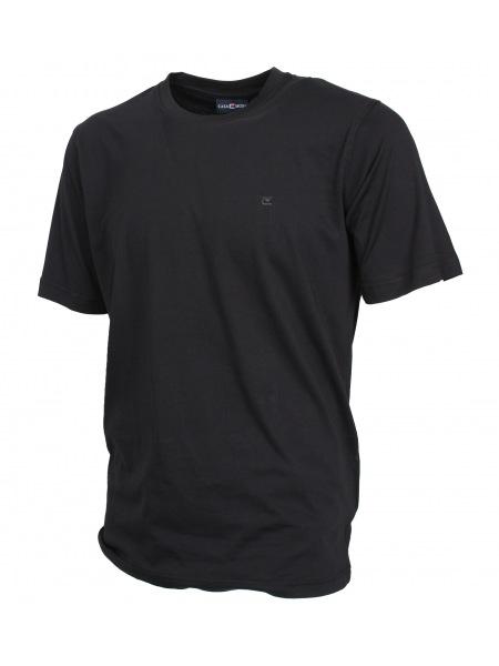 Casa Moda T-Shirt Doppelpack - Rundhals - schwarz - 092180 80