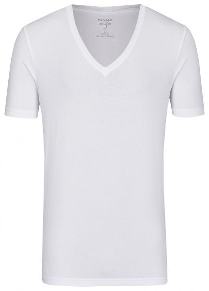 OLYMP Level Five Body Fit - T-Shirt - tiefer V-Ausschnitt - weiß - ohne OVP - 0804 12 00