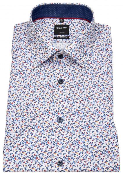 OLYMP Kurzarmhemd - Luxor Modern Fit - Print - mehrfarbig - 1272 52 35