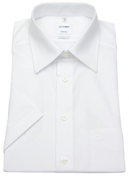 OLYMP Kurzarm Hemd - Tendenz Modern Fit - weiß - 0711 12 00