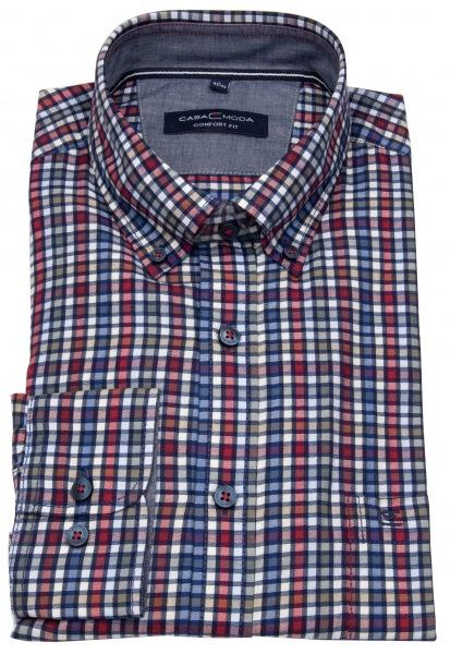 Casa Moda Hemd - Comfort Fit - Button Down Kragen - mehrfarbig kariert - 493300800 400