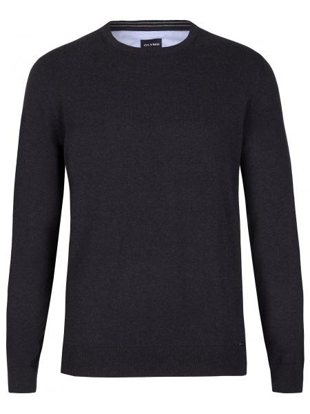 OLYMP Pullover - Rundhals-Ausschnitt - schwarz - 0160 11 67