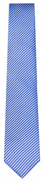 OLYMP Seidenkrawatte - Slim - blau / hellgrau fein gestreift - 6699 00 19