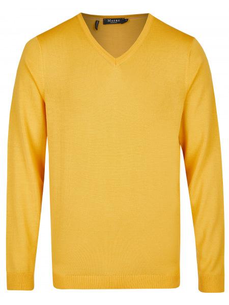 MAERZ Muenchen Pullover - Modern Fit - V-Ausschnitt - gelb - 403800 432