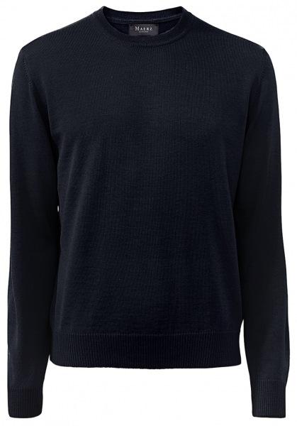 MAERZ Muenchen Pullover - Comfort Fit - Rundhals - Merinowolle - navy - 490500 399