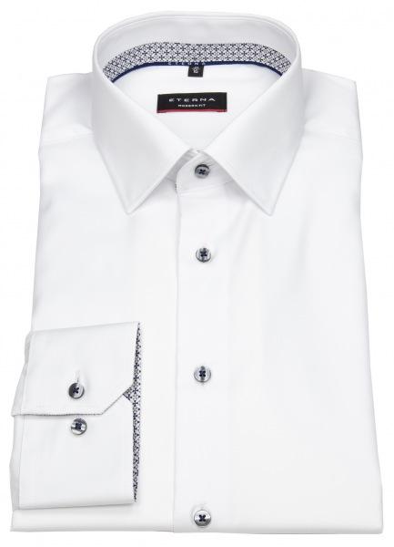 Eterna Hemd - Modern Fit - Cover Shirt - Kontrastknöpfe - weiß - 8817 X94P 00