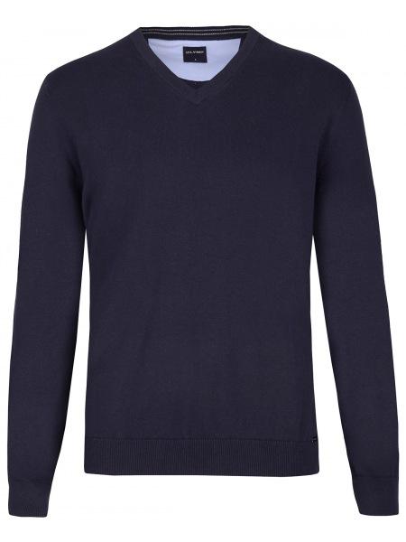 OLYMP Pullover - V-Ausschnitt - dunkelblau - 0160 10 14