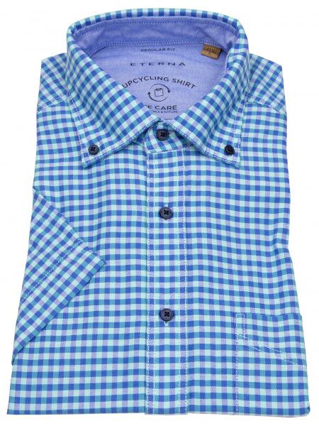 Eterna Kurzarmhemd - Regular Fit - Button Down - We Care - kariert - 2478 WS5 63