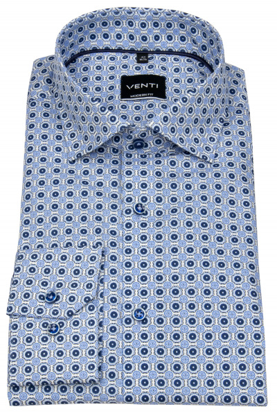 Venti Hemd - Modern Fit - Under Button Down - blau / weiß - 103497200 100
