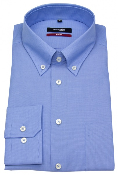Seidensticker Hemd - Modern Fit - Button-Down Kragen - Fil-a-Fil - blau - 003002 14