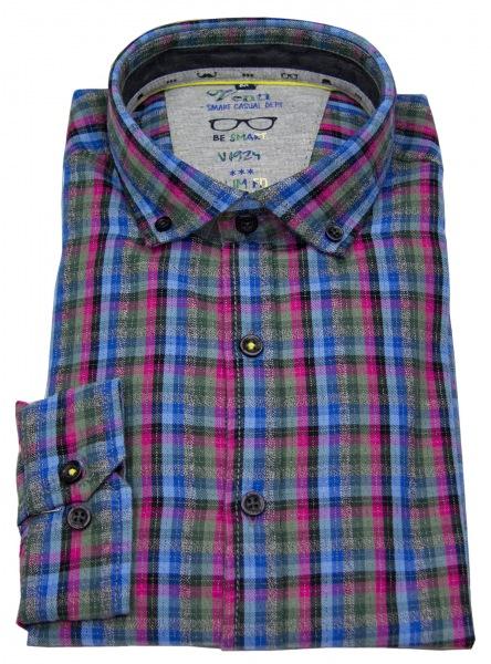 Venti Hemd - Slim Fit - Button Down - mehrfarbig kariert - 172827600 302