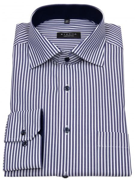 Eterna Hemd - Comfort Fit - Streifen - blau / weiß - 8982 E15K 19