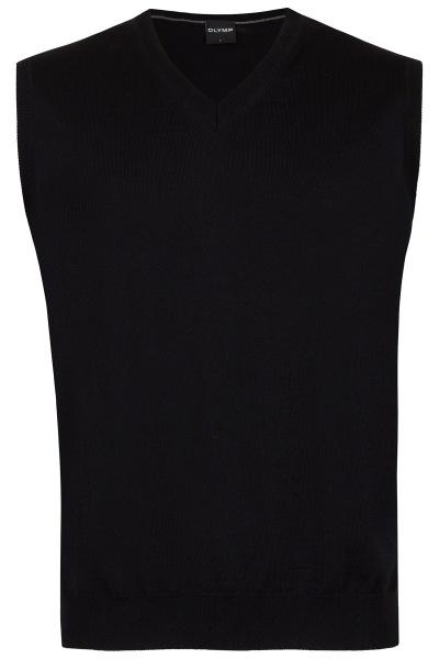 OLYMP Pullunder - Merinowolle - V-Ausschnitt - schwarz - 0150 50 68