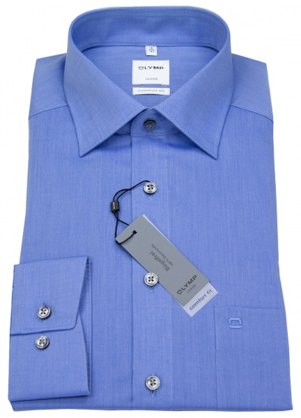 OLYMP Hemd - Luxor Comfort Fit - Chambray - blau - 5131 64 15
