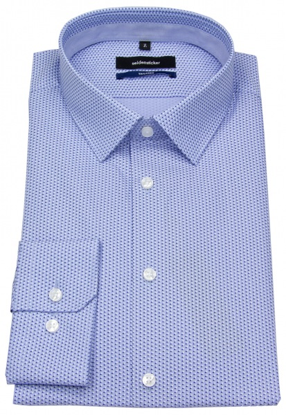 Seidensticker Hemd - Tailored - Print - hellblau / blau - 248980 17