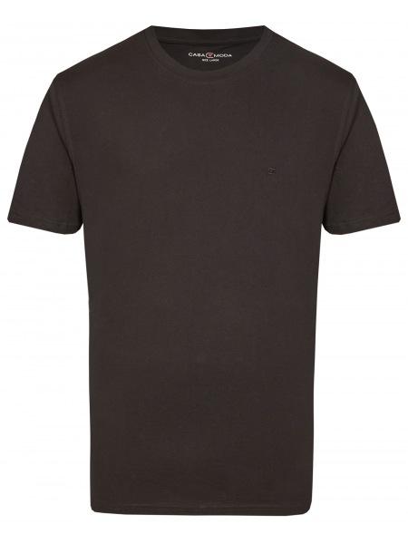Casa Moda T-Shirt Doppelpack - Rundhals - schwarz - 092500 800
