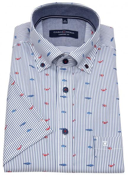 Casa Moda Kurzarmhemd - Comfort Fit - Button Down - Print - gestreift - 903416600 400