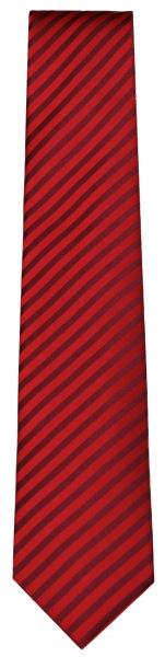 OLYMP Seidenkrawatte - rot / dunkelrot gestreift - 4699 00 39