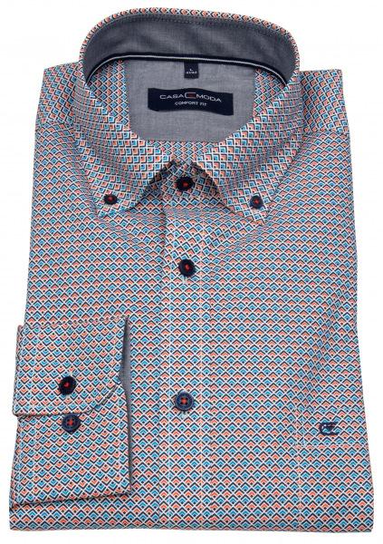 Casa Moda Hemd - Comfort Fit - Button Down Kragen - Print - mehrfarbig - 403422400 450