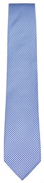 OLYMP Seidenkrawatte - feines Muster - hellblau / blau - 1655 00 15