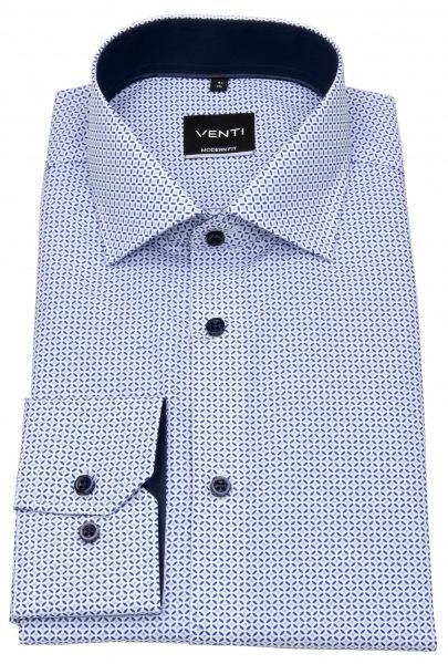 Venti Hemd - Modern Fit - Print - blau / hellblau - 103412700 101