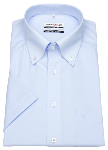 Marvelis Kurzarmhemd - Button-Down Kragen - hellblau - 7971 12 11