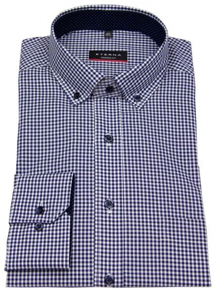 Eterna Hemd - Modern Fit - Button Down - dunkelblau - 68cm Arm - 8913 X143 16 Al=68