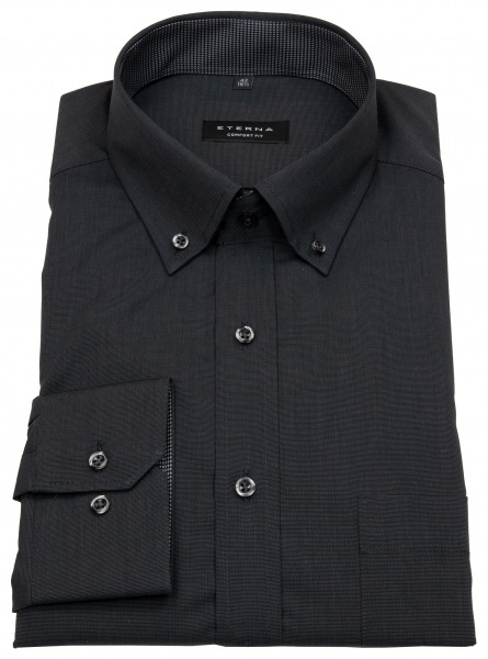 Eterna Hemd - Comfort Fit - Button Down - Fil à Fil - schwarz - 3070 E144 38