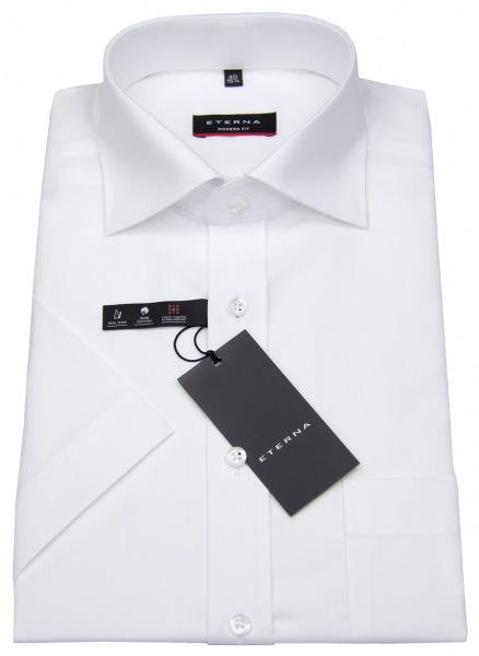 Eterna Kurzarmhemd - Modern Fit - weiß - 1100 C187 00
