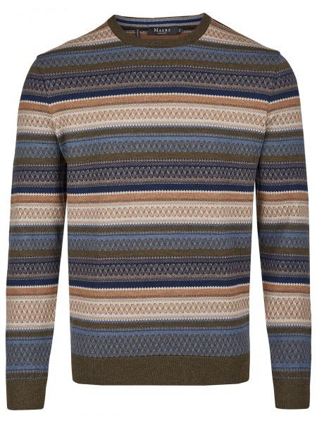 MAERZ Muenchen Pullover - Modern Fit - Rundhals-Ausschnitt - Moorland - 406601 252
