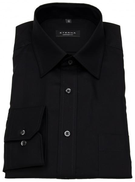 Eterna Hemd - Comfort Fit - Modern Kentkragen - schwarz - ohne OVP - 1100 E198 39