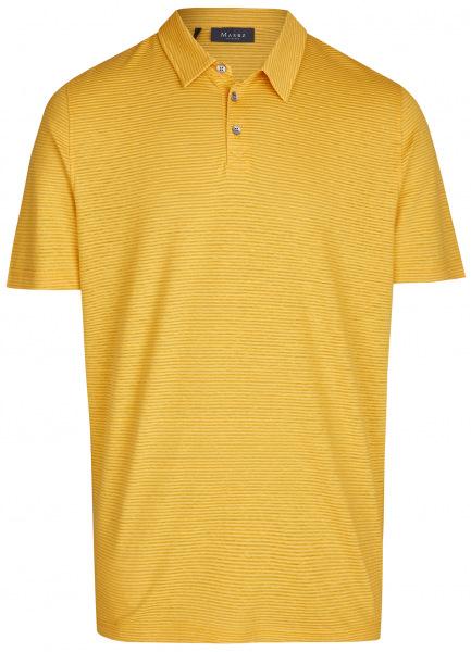 MAERZ Muenchen Poloshirt - Modern Fit - Baumwolle / Leinen - gelb - 664901 658