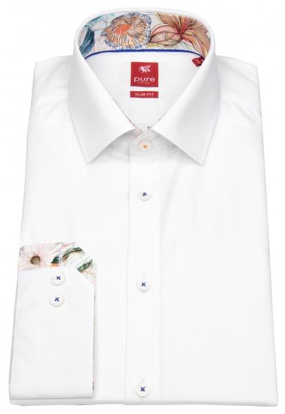Pure Hemd - Slim Fit - Patch - weiß - 91017-21106 900