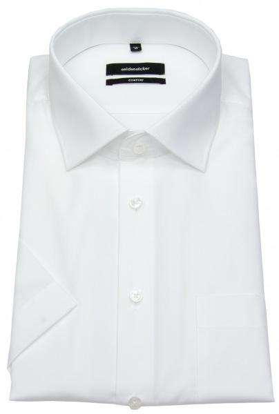Seidensticker Kurzarmhemd - Comfort Fit - Kentkragen - weiß - 312421 01