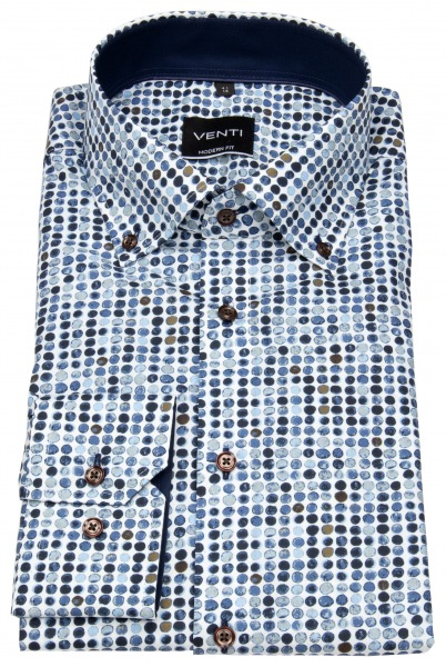 Venti Hemd - Modern Fit - Button Down - Print - mehrfarbig - 72cm Arm - 193276002 100