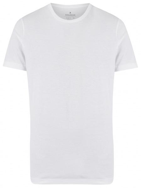 Ragman T-Shirt Doppelpack - Body Fit - Rundhals - weiß - 48000 006