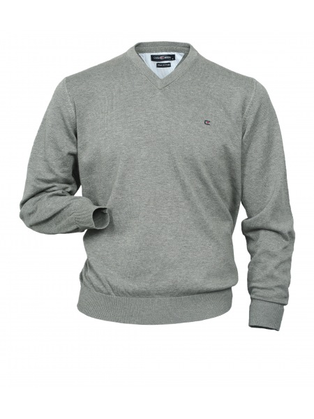 Casa Moda Pullover - V-Ausschnitt - grau - 004130 72