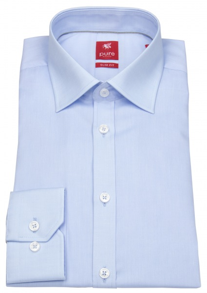 Pure Hemd - Slim Fit - hellblau - 3330 720 101