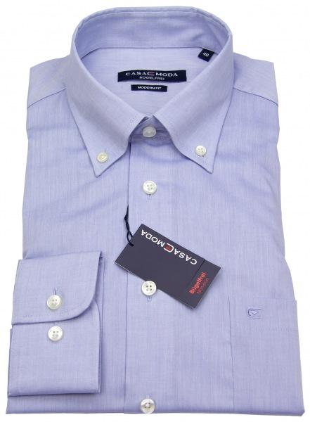 Casa Moda Hemd - Modern Fit - Button-Down Kragen - hellblau - 006563 10