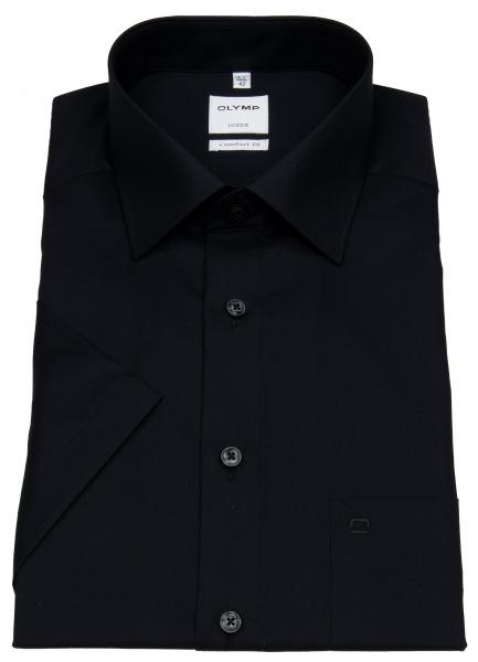 OLYMP Kurzarmhemd - Comfort Fit - New Kent - schwarz - 0254 12 68