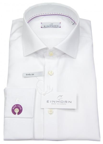 Einhorn Hemd - Body Fit - Haifischkragen - weiß - 900.11305 1