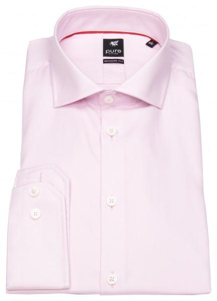 Pure Hemd - Modern Fit - Haifischkragen - rosa - 3380-498 340