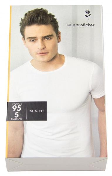 Seidensticker T-Shirt - Schwarze Rose - Rundhals-Ausschnitt - weiß - 242490 01