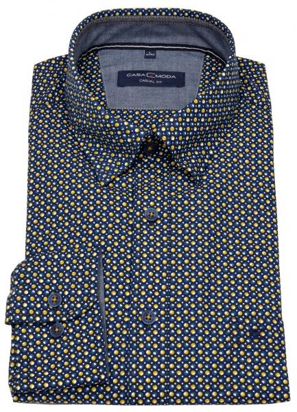 Casa Moda Hemd - Casual Fit - Under Button Down - Print - mehrfarbig - 493262300 100